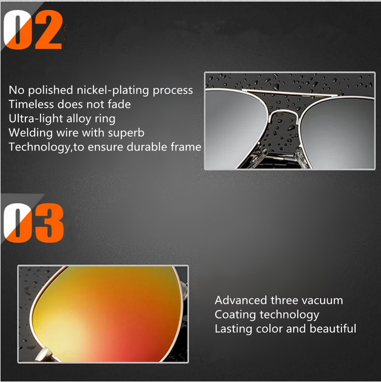UV400 Men Silver Mirror Pilot Metal Frame Sunglasses Shades Glasses