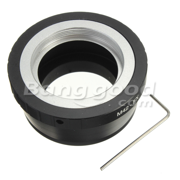 M42 Lens FX Adapter To Fujifilm Fuji X Mount X-Pro1 X Pro1 X-E1 X-M1 Camera Adapter Ring