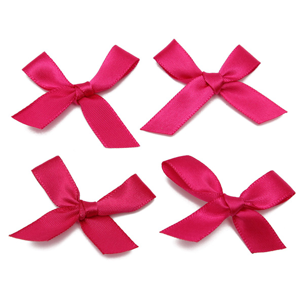 50pcs Silk Ribbon Bows Bow Bowknots Ribbon Party Gift Decoration Craft DIY Gift