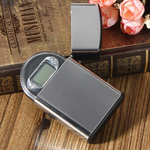 100gx0.01g Lighter Shape Mini Digital Jewelry Pocket Scale LCD Display