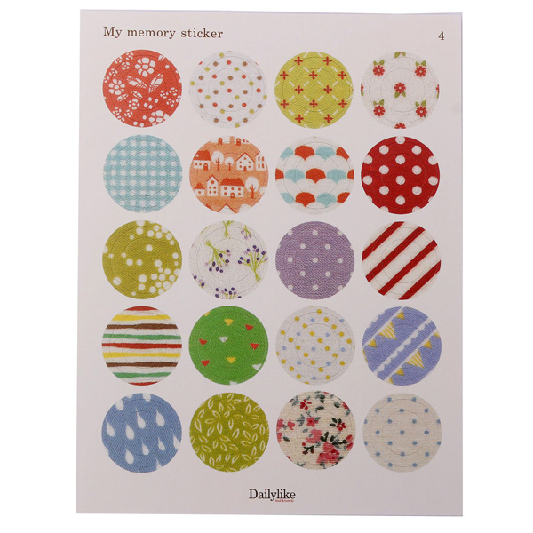 1 Set Floral Print Labels Stickers DIY Scrapbooking Paper Gift Decoration