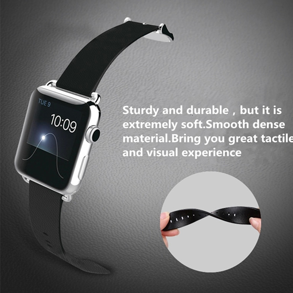 42mm Leather Classic Buckle Strap Watch Band For Apple Watch