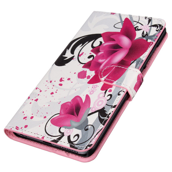 Flower Printed Card Slots Stand Leather Case For Xiaomi NOTE 5