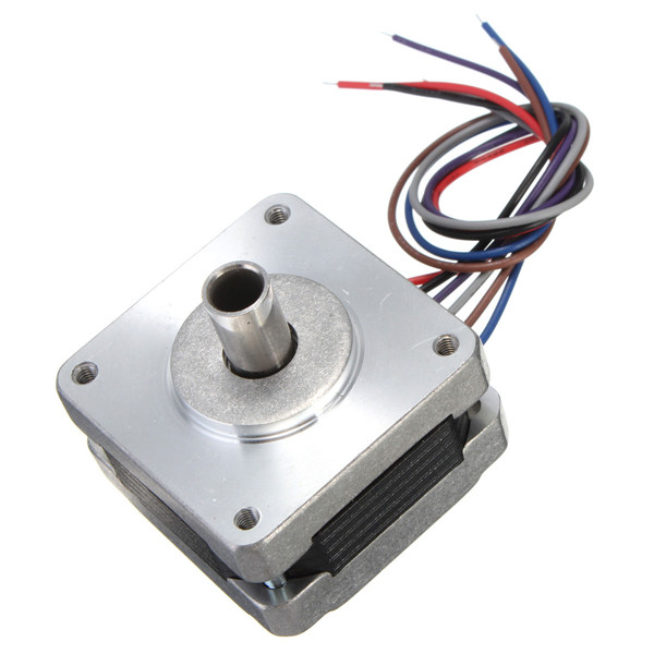 39MM Hollow Shaft Hybrid Stepper Motor 4 Phase 5 Wire Square 1.8 Degrees Stepper Motor