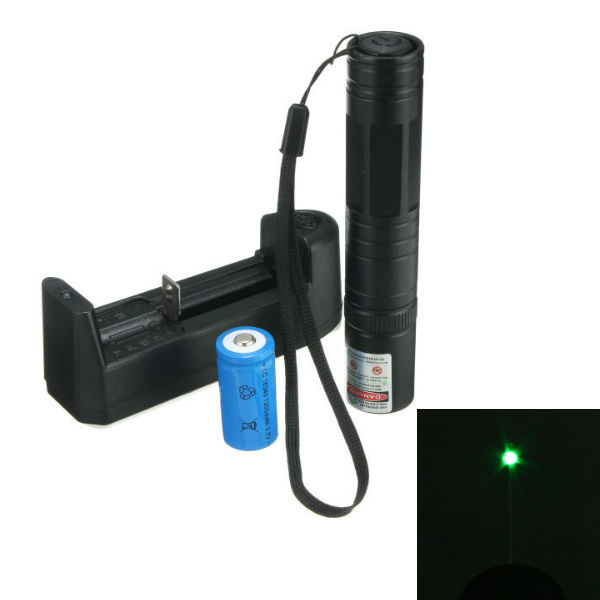 532nm Green Laser Pointer Pen High Power + 16340 Batter