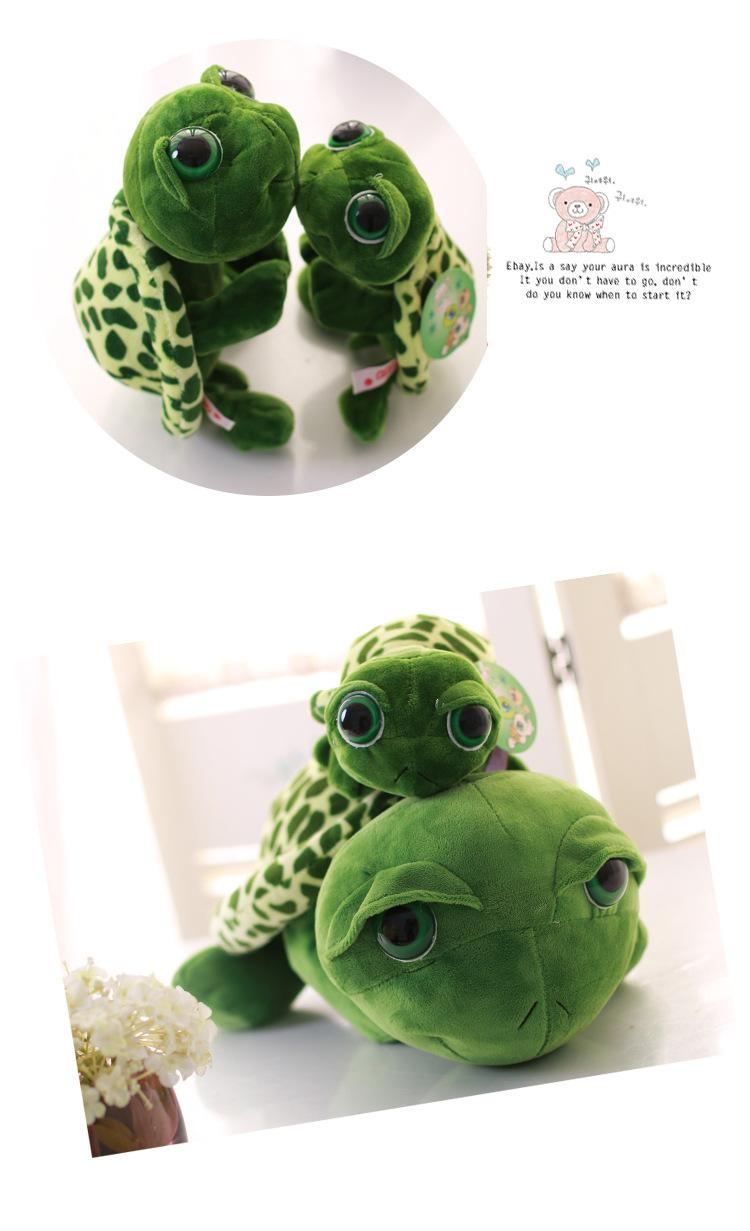 2015 New Babies Kids Cute Big Eyes Turtle Tortoise Soft Doll Stitch Plush Toy