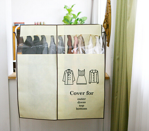 Anti Dust Waterproof Clothes Shirts Wardrobe Cover Non-woven Fabric Clothes Storage Bag