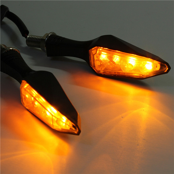 Yellow Light Universal 12V 4LED Motorcycle Turn Signal Indicators Lights Lamp