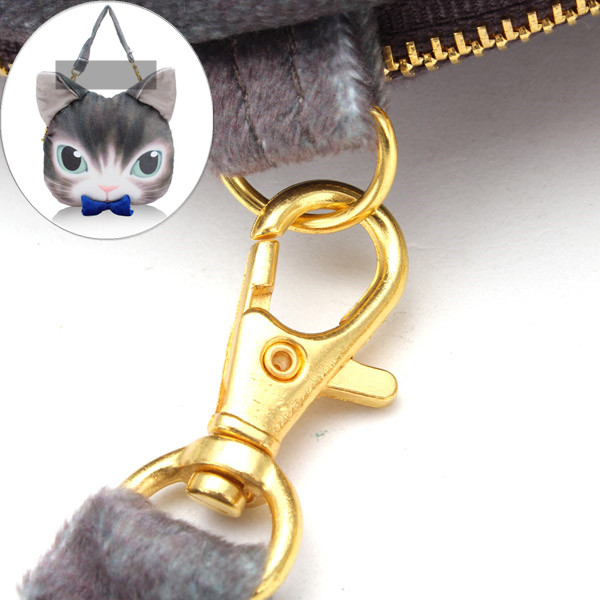 Women Lovely Cat Bowknot Crossbody Bags Handbags Coin Purse Zipper Wallet Card Holder