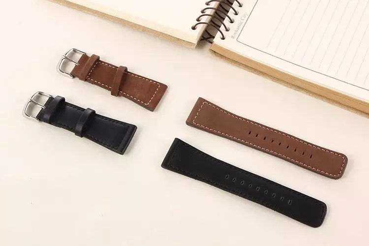 Chicago Watch Band Genuine Leather Wrist Band Strap For Apple Watch iWatch 38mm