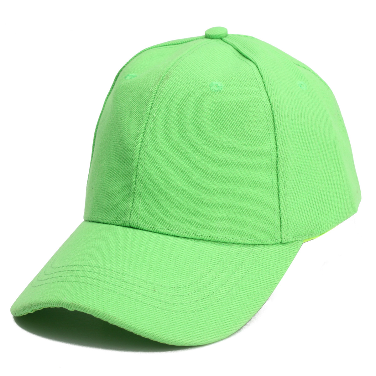 Unisex Classic Solid Pure Color Canvas Golf Sunshade Baseball Cap Velcro Adjustable Hat