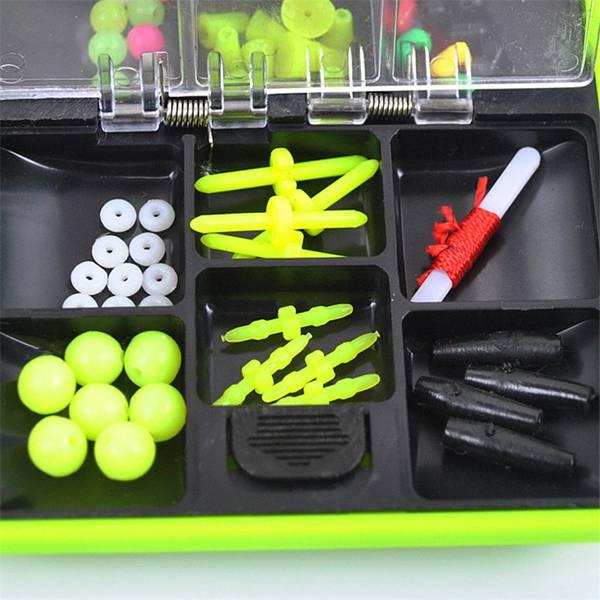 Assorted Fishing Tackle Set Tackle Box Jig Swivels Hooks Fishing Accessories