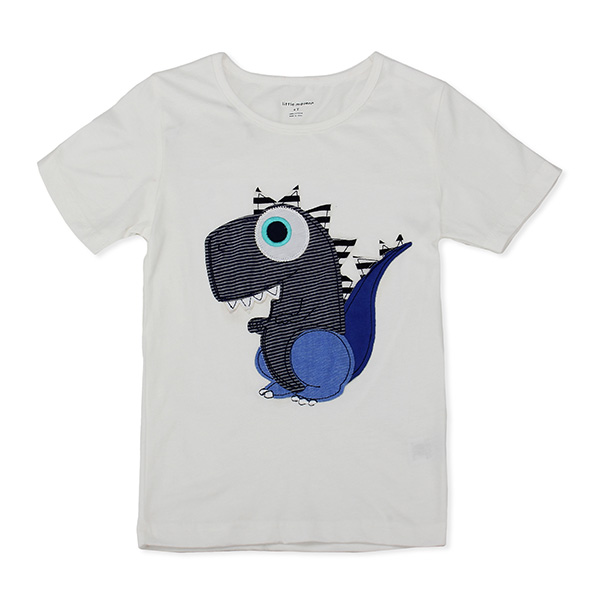 2015 New Little Maven Lovely Dinosaur Baby Children Boy Cotton Short Sleeve T-shirt Top