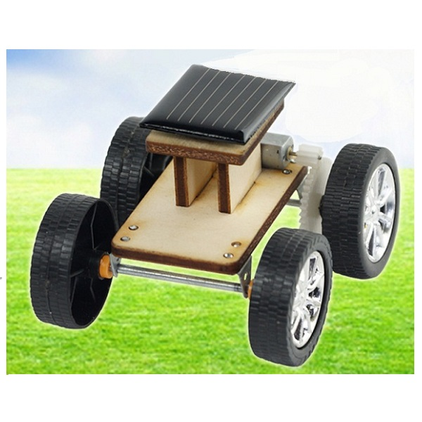 DIY Solar Wooden Car Toy Educational Assembly Model for
