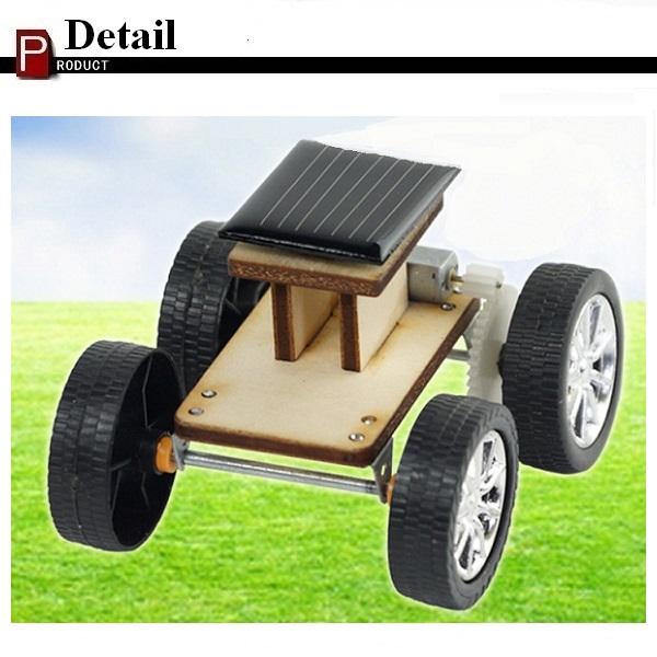 DIY Solar Wooden Car Toy Educational Assembly Model for Children