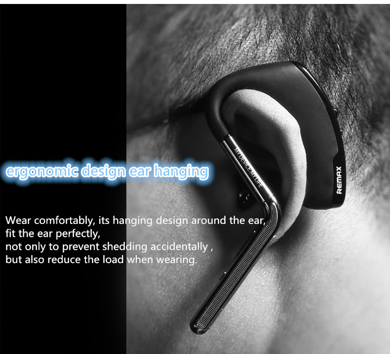REMAX Brand T5 Self Timer Wireless bluetooth 4.1 Earphone Headset With Mic