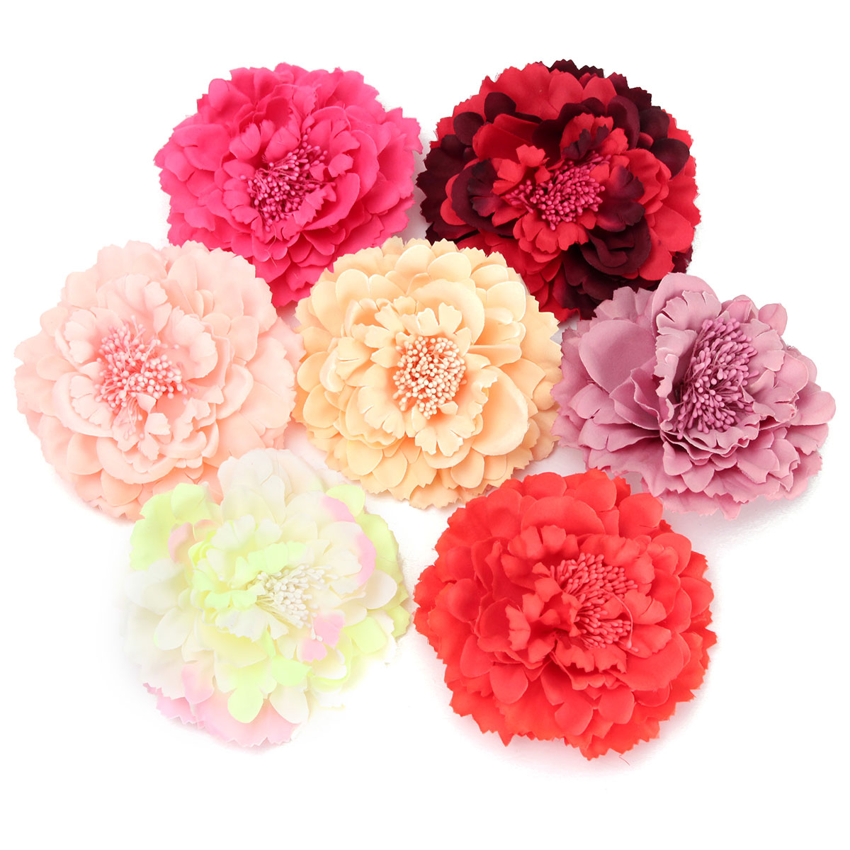 Women Lady Penoy Flower Bobby Hair Clip Beach Pin Hat Brooch Party Wedding Decoration