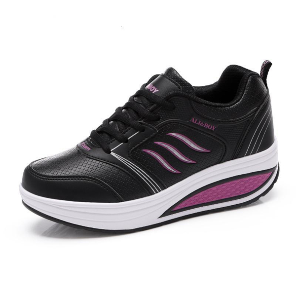 Women's Casual Shoes Breathable Shook Shoes Platform Sneakers