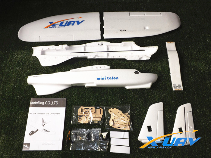 X-uav Mini Talon EPO 1300mm Wingspan V-tail FPV Plane Aircraft Kit