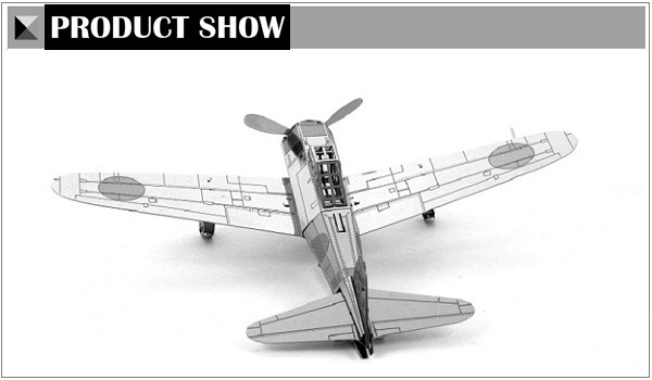 Piececool DIY Stainless Steel Assembled Model Japan Z-plane 3D Puzzle