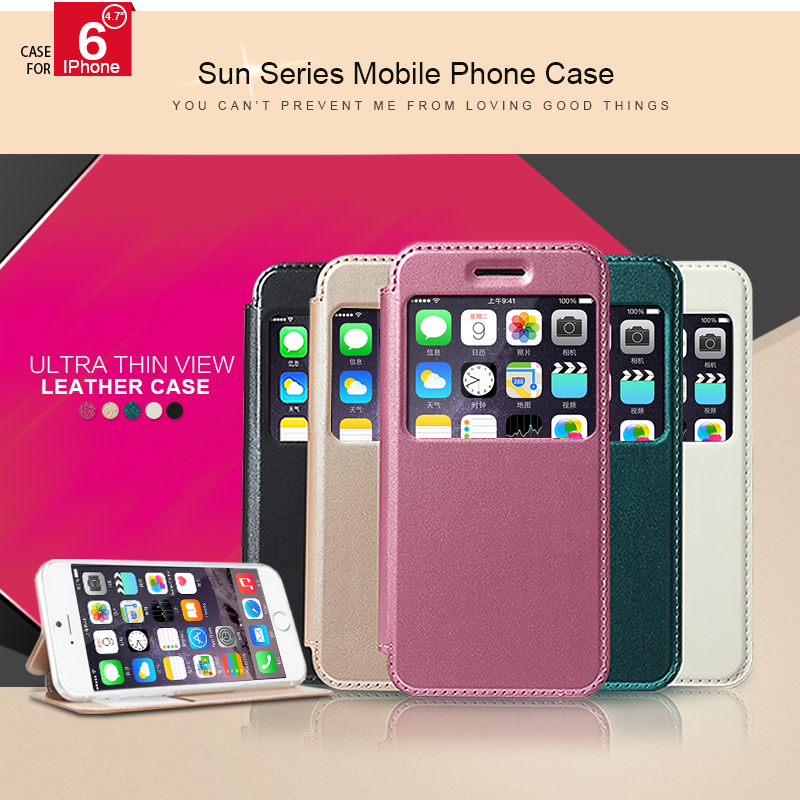 Original KLD SUN Series Protection Case PU TPU Leather Phone Case For iPhone 6