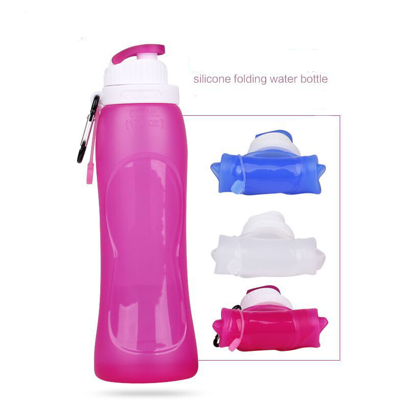Outdoor Sport Bike Bicycle Foldable Water Bottle Portable Folding Riding Kettle 500ml