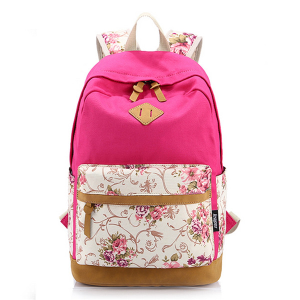 Floral Girl Backpack Women Leisure Backpack Students Backpack Teenager School Bags