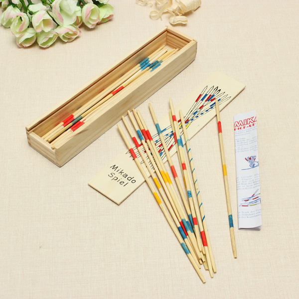 Mikado Spiel Game Sticks Wooden Toys Adult Children Intelligence Multilayer Toy