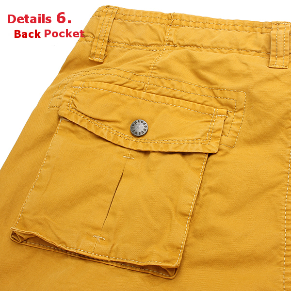 Mens Casual Cargo Shorts Multi Pocket Style 100% Cotton Washing Shorts
