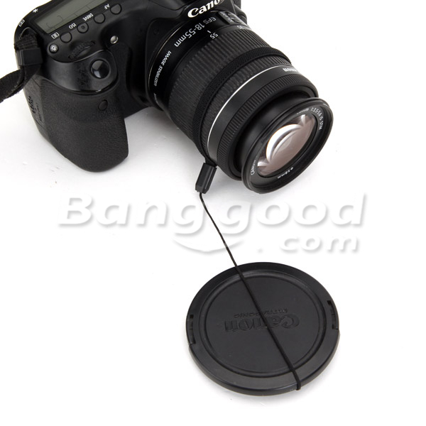 FotoTech Camera Lens Cap Holder For Canon Nikon Sony Pentax Sigma DSLR Camera