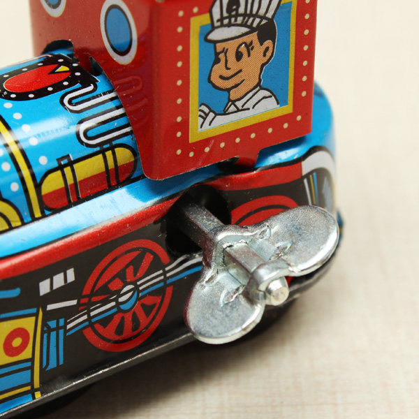 Vintage Wind Up Tin Toy Clockwork Spring LocomotivE Classic Toy