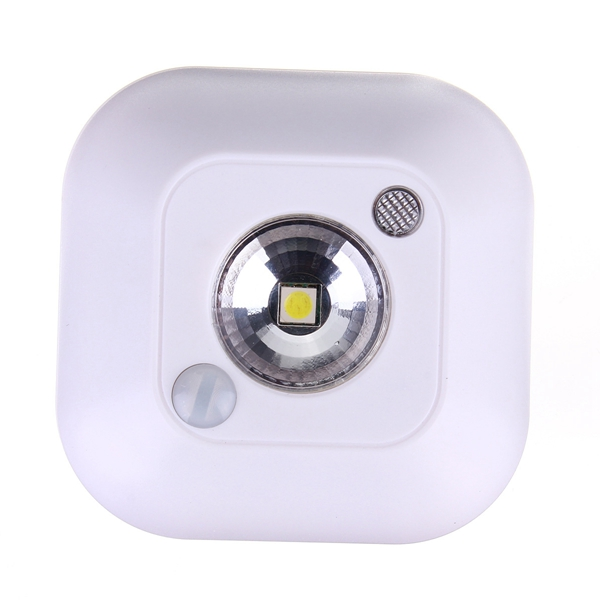 Mini Wireless PIR Motion Sensor Night Light Battery Powered Porch Cabinet Lamp