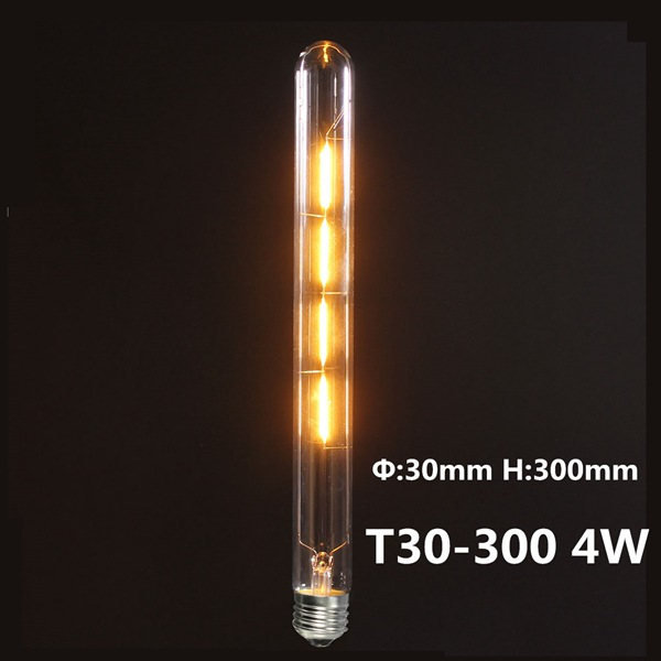 T300 E27 4W Warm White 400LM COB LED Filament Retro Edison Bulbs 110-240V
