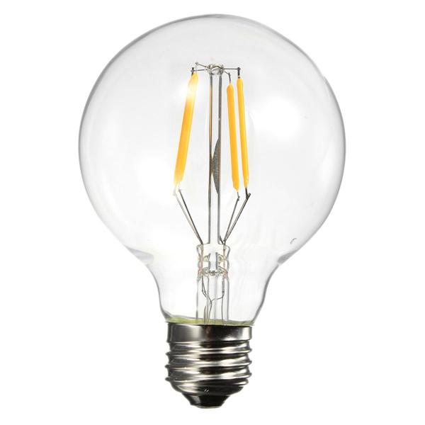 G80 E27 4W Warm White 400LM COB LED Filament Retro Edison Bulbs 110-240V