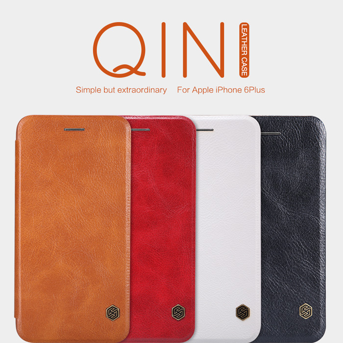 Nillkin Brand Qin Series Flip Leather Case For iPhone 6 Plus 5.5Inch