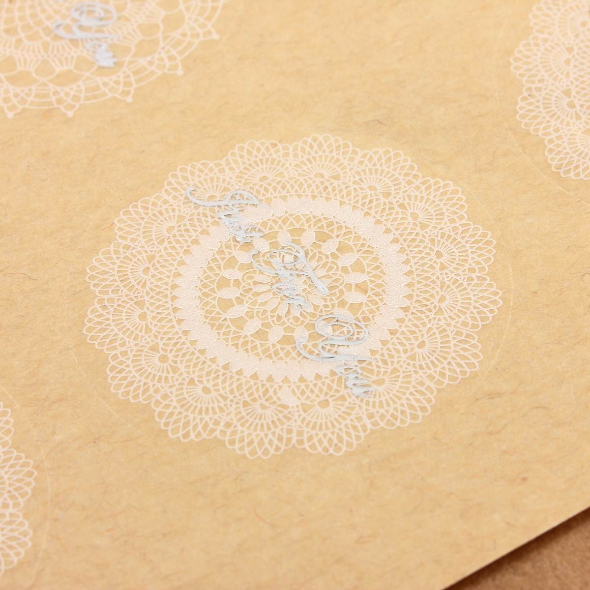 Transparent Lace Seal Stickers Wedding Party Gift Sticker