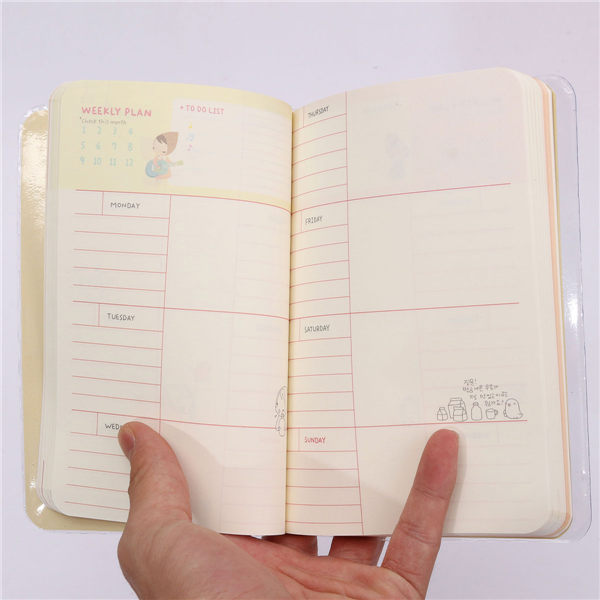 Little Red Riding Hood Boxed Diary Schedule Notebook Notepad Calendar Planner