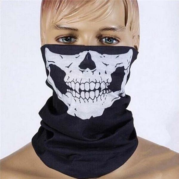 Masque Crâne Fantôme Masque Facial pour Vélo Multi Fête d'Halloween