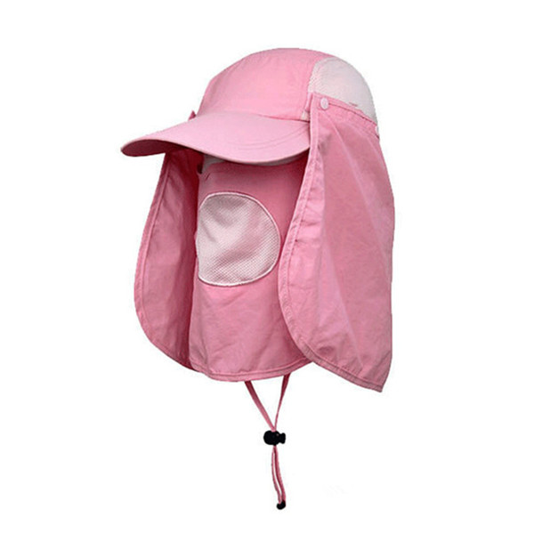 Unisex Outdooors Protection Uv Proof Windproof Fishing Cap Neck Face Flap  Hat 93592311bee7