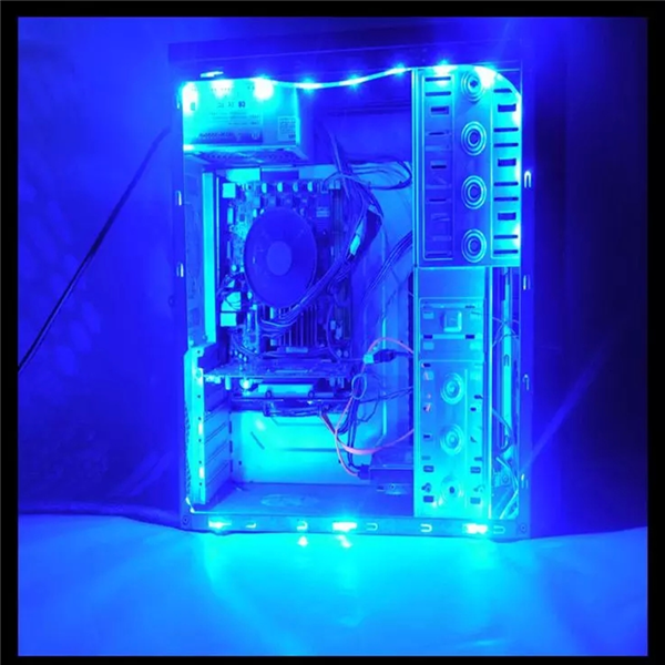50CM SMD 3528 Non-Waterproof LED Flexible Strip Light PC Computer Case Adhesive Lamp DC12V