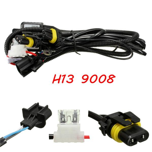 H4-9003 9004 9007 H13-9008 HID Bi Xenon Bulb Relay Controller Wiring Harness