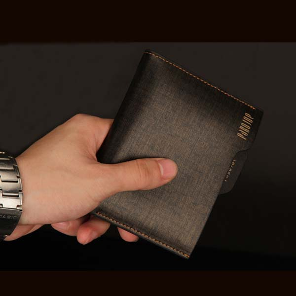 PABOJOE Brand Genuine Leather Wallet Business Purse Credit Card Holder with Box and Key