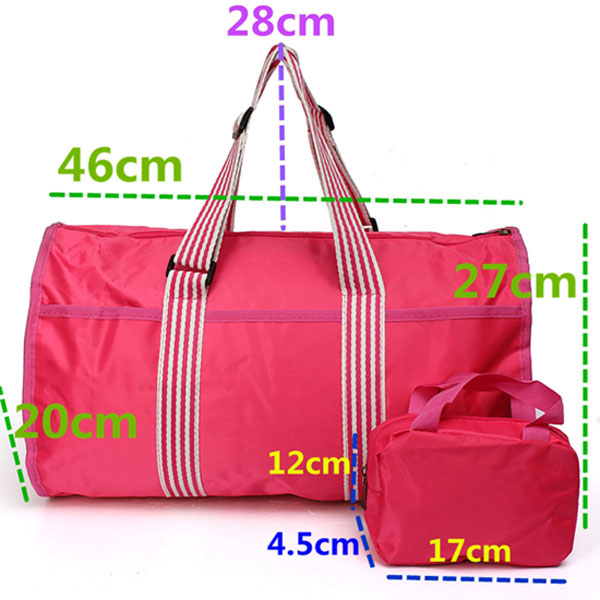 Men Women Outdooors Waterproof Nylon Handbag Travel Sportscaming Luggage Bag