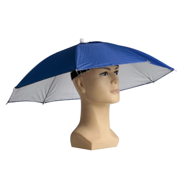 Foldable Sun Umbrella Fishing Hiking Golf Camping Headwear Cap Head Hats Outdoor