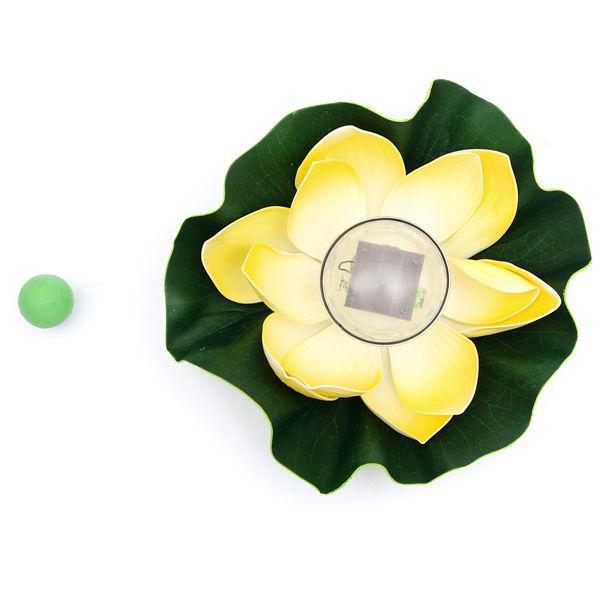 Solar Color-changing LED Lotus Flower Lamp Floating Pond Lamp Garden Pool Light