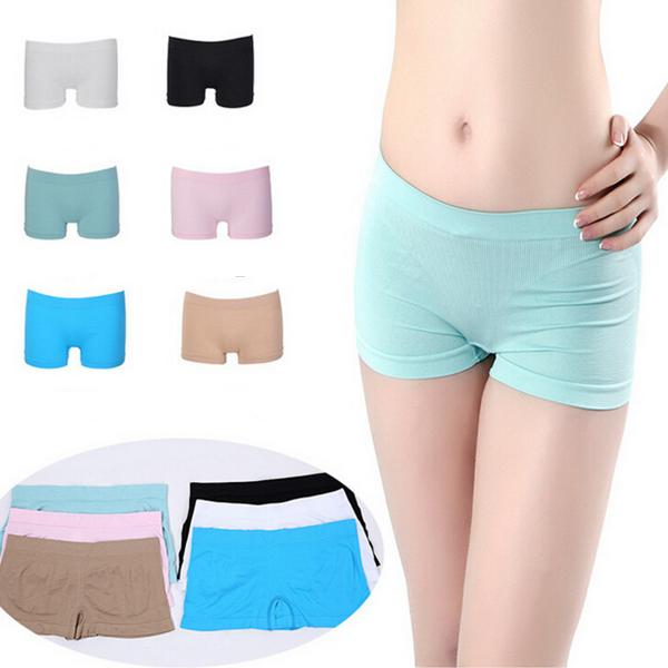 Women Elastic Breathable Fitness Seamless Boyshorts Yoga Pants Boxers Underwear