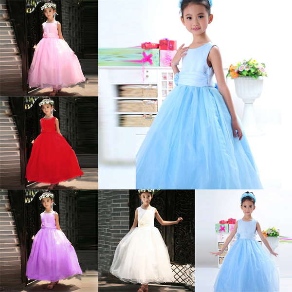 Child Baby Girl Bridesmaid Pageant Birthday Wedding Party Flower Princess Dress