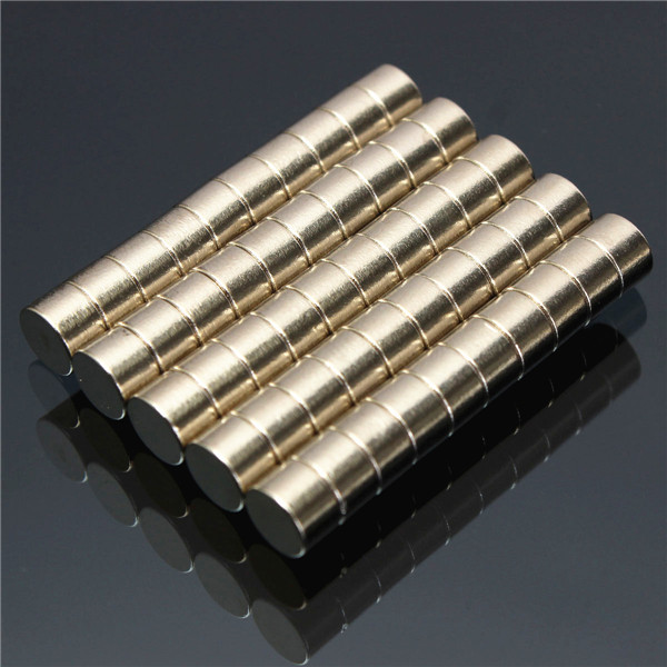 50pcs 6mm x 4mm N50 Strong Rare Earth NdFeB Neodymium Disc Magnets