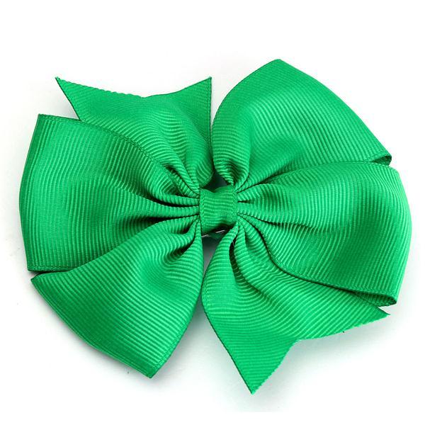 10 Pcs Girl Kids Bowknot Hair Clip Ribbon Bows Accessory Headpiece Grosgrain Barrette