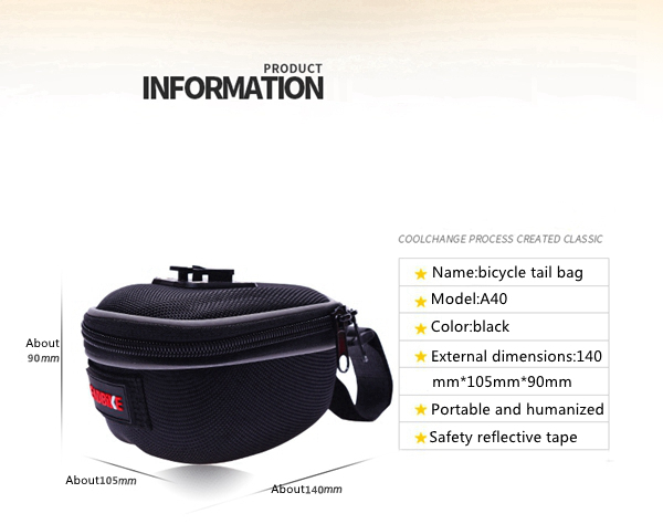 LEADBIKE Bicycle Package Back Seat Bag Mountain Bike Tail Bag Saddle Bag Bike Accessories